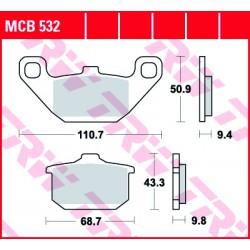 Front brake pads TRW / Lucas Kawasaki EL 252  1997 - 2000