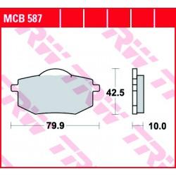 Front brake pads TRW / Lucas Yamaha XV 535 Virago 1988 - 1994