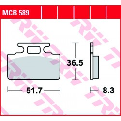 Front brake pads TRW / Lucas SYM  100 Mio 2005 -