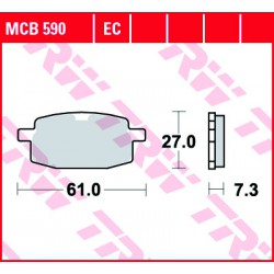 Front brake pads TRW / Lucas PGO  50 Hot 1998 -