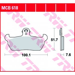 Front brake pads TRW / Lucas Cagiva  80 Super City 1994 -