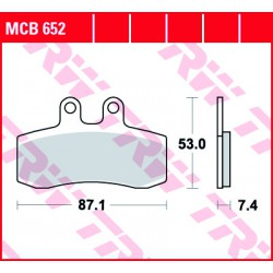 Front brake pads TRW / Lucas MUZ MZ 660 Baghira 1997 - 2001