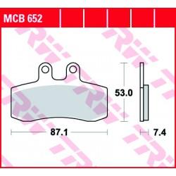 Front brake pads TRW / Lucas MUZ MZ 660 Baghira Black Panther 2000 -