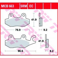 Front brake pads TRW / Lucas MUZ RT 125 Classic 2000 -