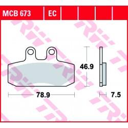 Front brake pads TRW / Lucas Derbi  250 Rambla i 2008 - 2009