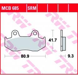 Front brake pads TRW / Lucas Honda SCV 110 NHX Lead 2008 - 2009