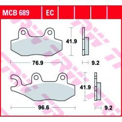 Front brake pads TRW / Lucas Royal Enfield  500 Fury EFI 2011 -
