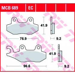 Front brake pads TRW / Lucas Royal Enfield  500 Trials EFI 2009 -