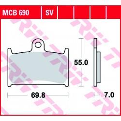 Front brake pads TRW / Lucas Suzuki RF 900 R 1994 - 1997
