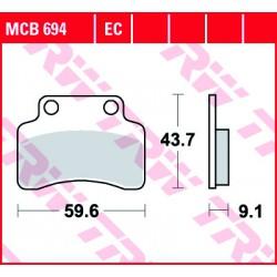 Front brake pads TRW / Lucas Peugeot  Electric e- Vivacity 2010 -