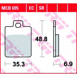 Front brake pads TRW / Lucas Derbi  150 Sonar 2009 - 2010