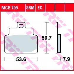 Front brake pads TRW / Lucas Aprilia  100 Scarabeo 4T 2001 - 2009