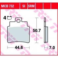 Front brake pads TRW / Lucas SYM GTS 250 Joymax 2006 - 2009