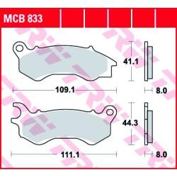 Front brake pads TRW / Lucas Honda NSC 110 C Vision, AC Vision 2017 -