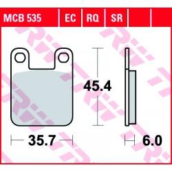 Rear brake pads TRW / Lucas Beta  80 Rev 2000 - 2007 směs EC
