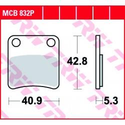 Rear brake pads TRW / Lucas Piaggio  350 MP3 i.e. Business ABS/ASR 2018 -  směs P