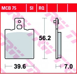 Rear brake pads TRW / Lucas Bimota YB7 750  1989 -  směs RQ