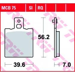 Rear brake pads TRW / Lucas Moto Guzzi  500 Monza 1977 - 1985 směs RQ