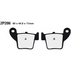 Rear brake pads Nissin Suzuki RME 50 2010 -  type ST