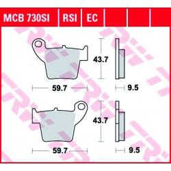 Rear brake pads TRW / Lucas Honda CRE 490 X Supermoto 2007 -  směs RSI