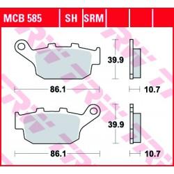 Rear brake pads TRW / Lucas Buell XB-9SX 984 Lightning City X 2005 - 2010 směs SH