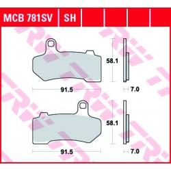 Rear brake pads TRW / Lucas Harley-Davidson FLHTKSE 1870 CVO Limited 2017 -  směs SH