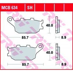 Rear brake pads TRW / Lucas Honda CBR 954 RR Fireblade 2002 - 2003 směs SH