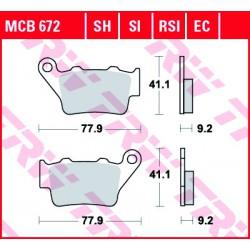 Rear brake pads TRW / Lucas CF Moto  650 TK 2014 -  směs SH