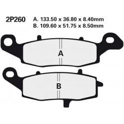 Front brake pads Nissin Kawasaki GPZ 1100 ABS, Horizont Left/Rear 1997 -  type NS
