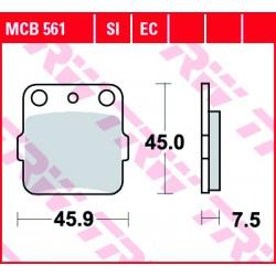 Rear brake pads TRW / Lucas Yamaha YZ 85 SW 2002 - 2003 směs SI