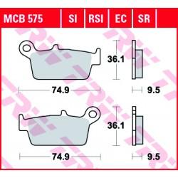 Rear brake pads TRW / Lucas Honda CR 85 R 2003 - 2007 směs SI