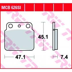Rear brake pads TRW / Lucas Hyosung TE 450 S Sport 2007 - 2010 směs SI