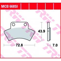 Rear brake pads TRW / Lucas CF Moto CF 625 Terralander 2011 -  směs SI