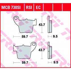 Rear brake pads TRW / Lucas Honda CRE 490 X Supermoto 2007 -  směs SI