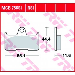 Rear brake pads TRW / Lucas CF Moto CF 500 Terralander 2011 -  směs SI