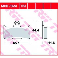 Rear brake pads TRW / Lucas CF Moto CF 800 Terralander 2012 -  směs SI