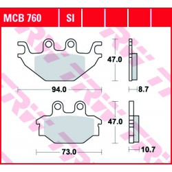 Rear brake pads TRW / Lucas Kymco UXV 450  2015 -  směs SI