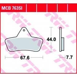 Rear brake pads TRW / Lucas Arctic Cat  250 2x4/4x4 1999 - 2004 směs SI