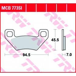 Rear brake pads TRW / Lucas Kymco  450 Grumbler i. 2013 - 2016 směs SI
