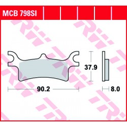 Rear brake pads TRW / Lucas Polaris  450 Sportsman 2006 - 2007 směs SI