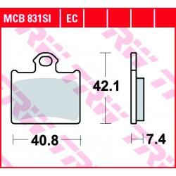 Rear brake pads TRW / Lucas KTM E-XC Electric Freeride 2015 -  směs SI