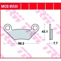 Rear brake pads TRW / Lucas Polaris  550 Sportsman X2, XP, XP EPS 2009 -  směs SI
