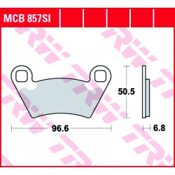 Rear brake pads TRW / Lucas Polaris  900 RZR XP 2011 -  směs SI
