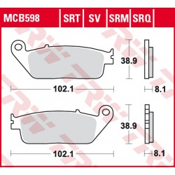 Rear brake pads TRW / Lucas BMW C 600 Sport ABS 2011 - 2015 směs SRM