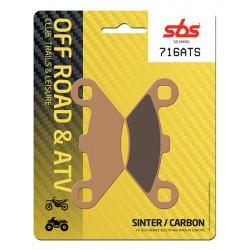 Front brake pads SBS Polaris  400 Big Boss L 6x6 1996 směs ATS