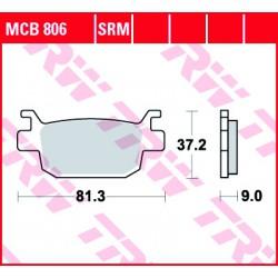 Rear brake pads TRW / Lucas Benelli  402 S 2018 -  směs SRM