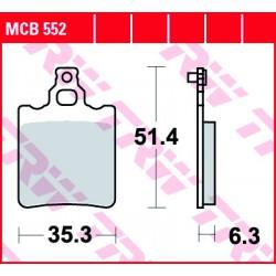 Rear brake pads TRW / Lucas KTM SX 60  1998 - 2000