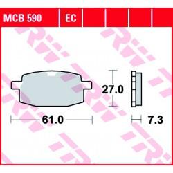 Rear brake pads TRW / Lucas TGB  250 Dynasty 2006 -