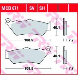 Rear brake pads TRW / Lucas Victory  1500 alle Modelle 2000 - 2006