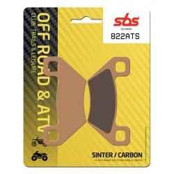 Front brake pads SBS Arctic Cat  1000 Prowler 2009 směs ATS